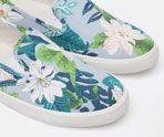 Tropical print sneakers - OYSHO