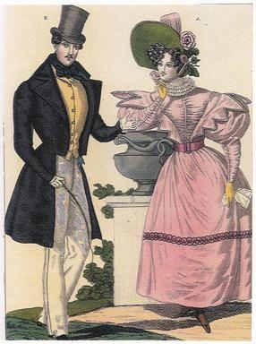 W II połowie XIX wieku pojawiła się tumiura. Towarzyszył jej gorset, który u schyłku XIX w. stał się prawdziwym pancerzem, pełnym stalowych wkładek, warstw płótna i twardej gumowej taśmy.  W Polsce noszono także krynoliny. Byl to czas narodowej żałoby po upadku powstania styczniowego.  Kobiety nosiły suknie z trenem, obowiązkowo czarne, wykończone niedużym białym kołnierzykiem. W modzie męskiej pojawiła się marynarka.