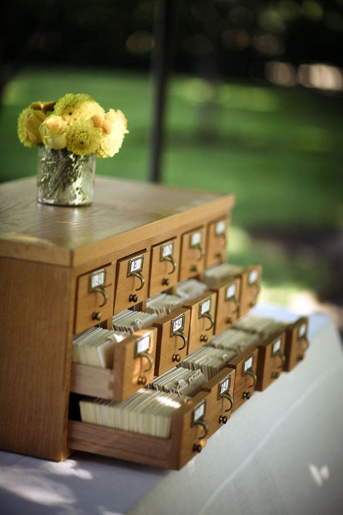 5 perfectly practical uses for a vintage card catalogue...