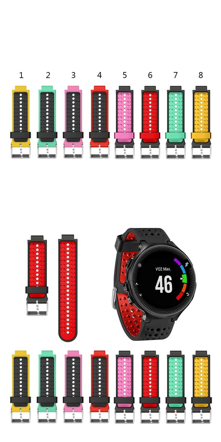 For Garmin Forerunner 220/230/235/620/630 Soft Silicone Strap Bracelet Replacement Wristband Wearable Devices Accessories