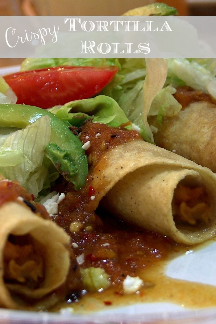 Crispy Tortilla Rolls- easy and delish! #food #taquitos