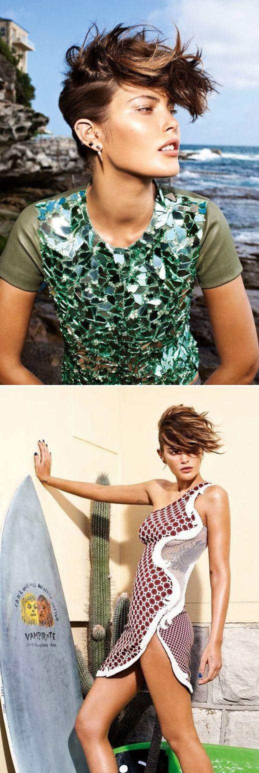 vogue australiaShort Hair, Multiple Ear Piercings, Surfin, Shorts Hair, Surf Hair, Hair Style, Shorthair, Faux Hawk, Hair Lol