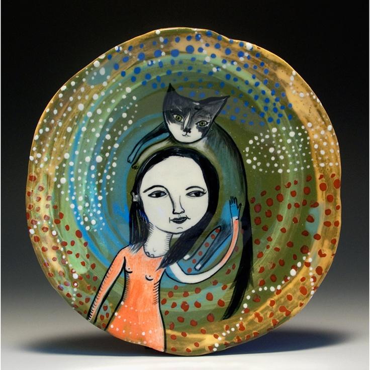 Jenny Mendes - A cat that is a hatHats Contemporary, Ceramics Art, Ceramics Pottery, Art Post, Art Photography, Contemporary Ceramics, Artsy Stuff, Jenny Mendes, Cat Plates