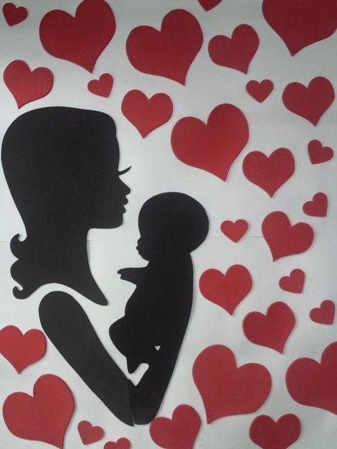 Mural para o dia das mães: 50 ideias | Sala de aula ...