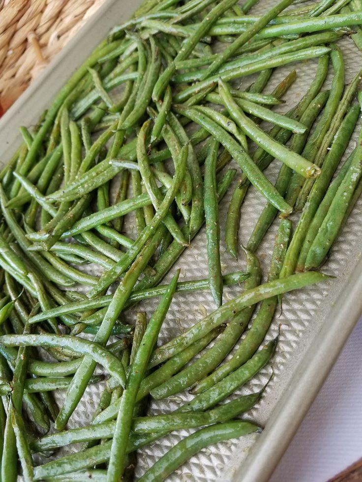 honey dijon roasted green beans clean eating