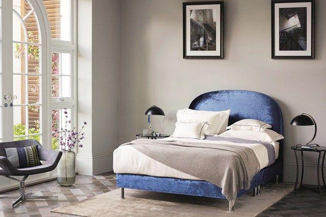 Velvet crush bed - Bedroom Decorating & Design Ideas (houseandgarden.co.uk)
