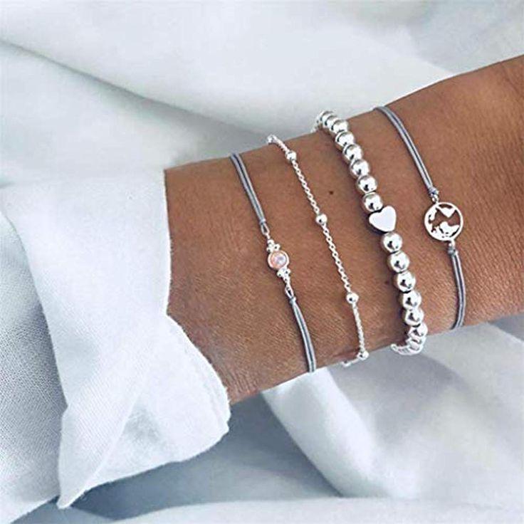 Garispace Frauen Armband Set Map Opal Perlenkette Armband 4 Teile/Satz Böhmisch…