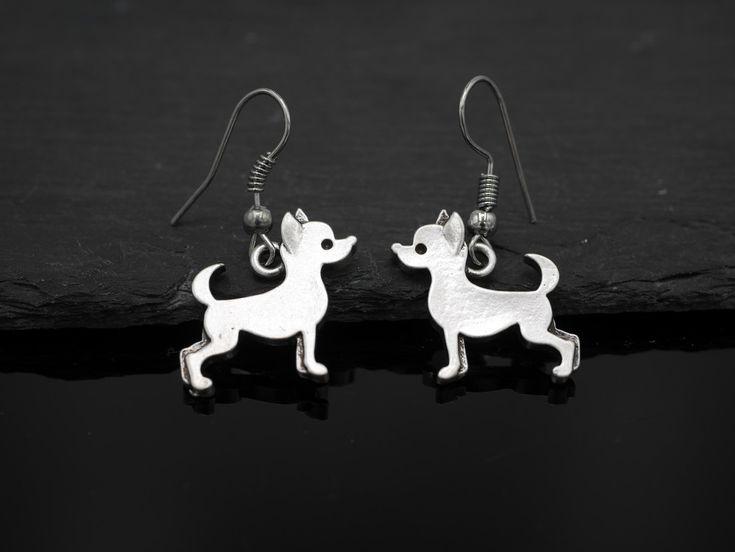 Ohrhänger - Ohrhänger Hund Chihuahua Ohrringe - ein Designerstück von zwergschmuck bei DaWanda