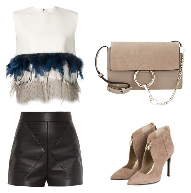 Night out by lilyks on Polyvore featuring polyvore, fashion, style, Dsquared2, Balenciaga and Chloé