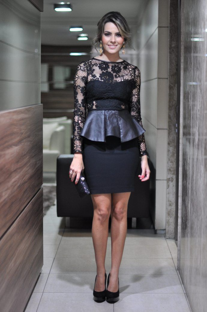 Look of the Day: peplum dress Zara - Closet of Rê