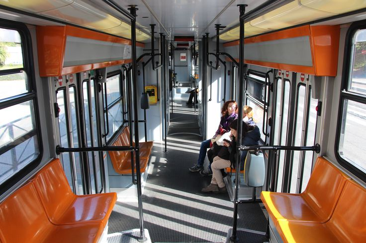 The interior of a tram on the 19 route near Vatican City. #tram #train #lightrail #roma