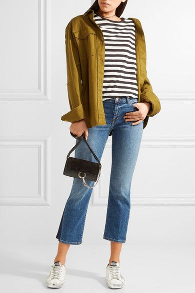 J Brand - Selena Cropped Mid-rise Bootcut Jeans - Mid denim - 31