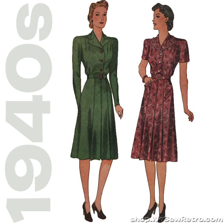 1940s Dress Vintage Pattern - Simplicity 3471 - Plus Size Vintage Sewing Pattern