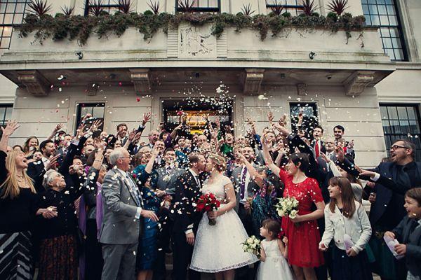 Fur Coat No Knickers 1950s Wedding Dress alternative style wedding photography by Assassynation