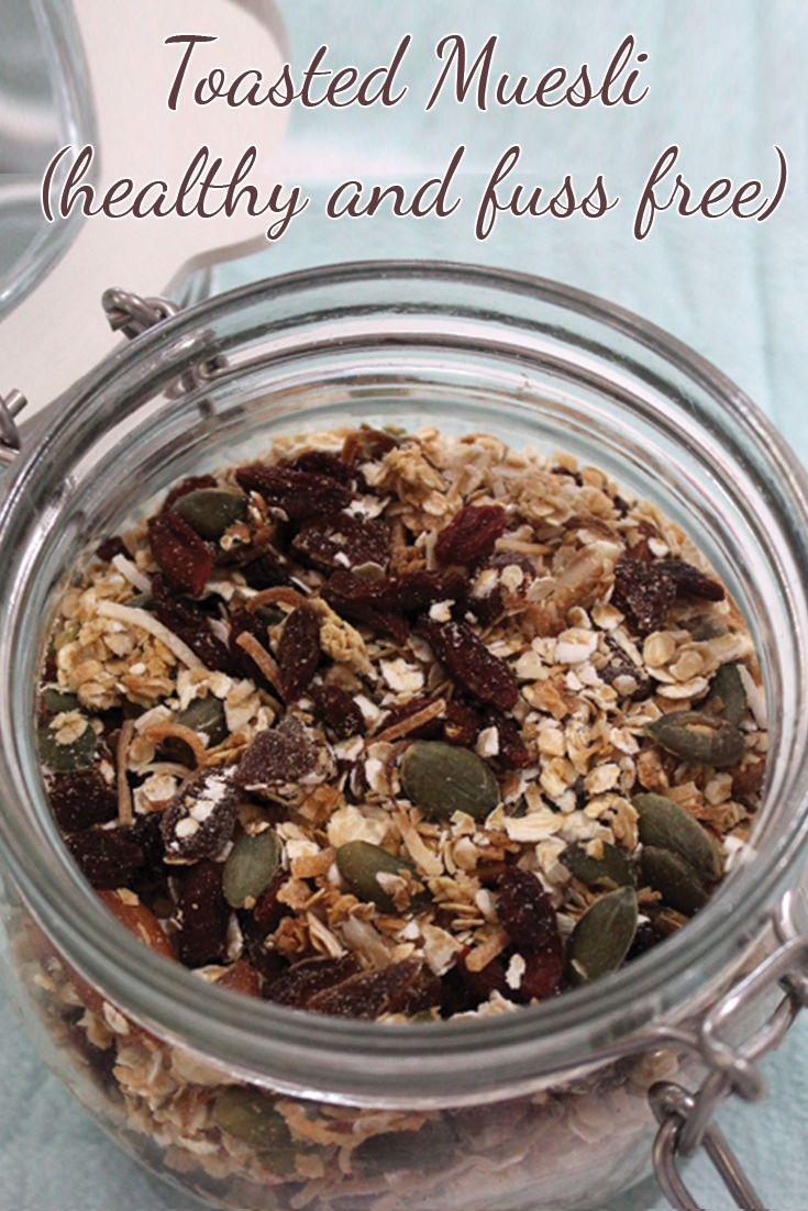 Toasted Muesli (healthy and fuss free)