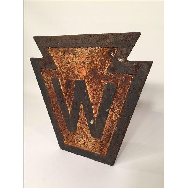 Image of Antique Pennsylvania Railroad Whistle Sign