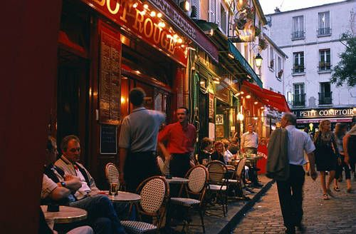 Cafe in Paris, I once had a soda and quische (sp?) for $18 and it was worth every minute just for the ambiance, view and attitude I gave people as they walked by lol