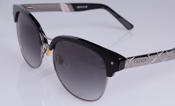 Treyca Clubmaster Polished Grey Sunglasses. #Treyca #Sunglasses