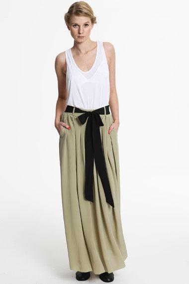 bow tie maxi skirt bow addict