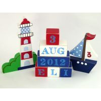 Complete Set example - Boat and lighthouse www.mamadoo.com.au #mamadoo #childrensdecor #woodletters