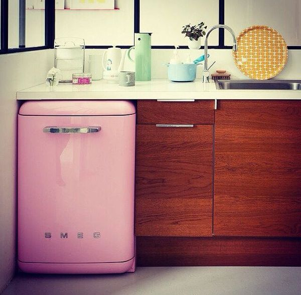Best 25 pink mini fridge ideas on pinterest mini fridge for Smeg kitchen designs