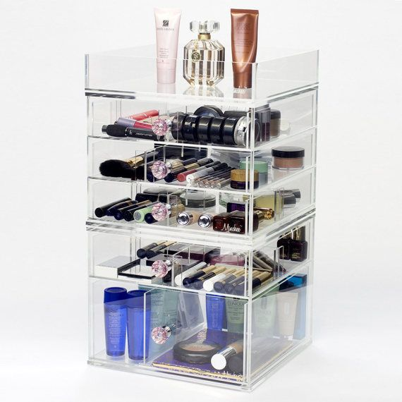 6 Tier Makeup Organizer  Dream Collection  Clear Acrylic