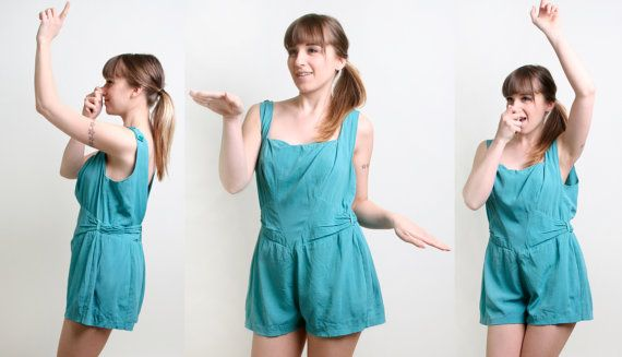 1950s Bathing Suit  Vintage -This is what my gym uniform looked like in the late 60's hahaha
