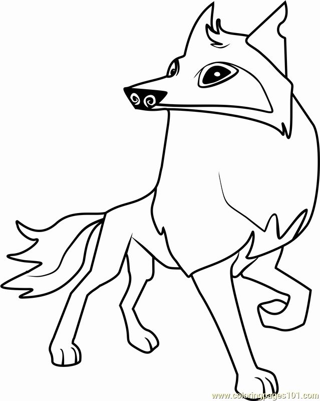 Arctic Fox Coloring Page Beautiful Arctic Wolf Animal Jam Coloring Page Free Animal Jam Animal Coloring Pages Fox Coloring Page Wolf Colors