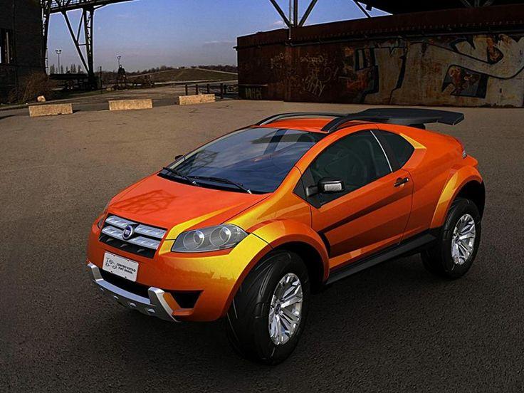Futurystyczne auto koncepcyjne o nazwie  FCC Adventure, które Fiat zaprezentował kilka lat temu.
