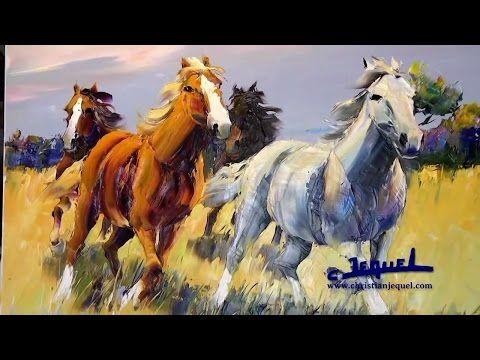 Как нарисовать лошадь мастихином - YouTube