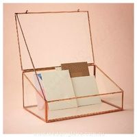 Copper Glass Card Holder Wishing Well