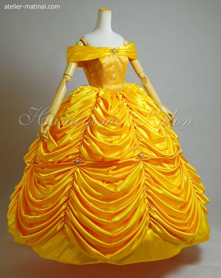 美女と野獣のベルのドレスのコスプレ衣装の作り方 - 自分で服を作りたい!縫い代がついた型紙(設計図)だから初心者におすすめです