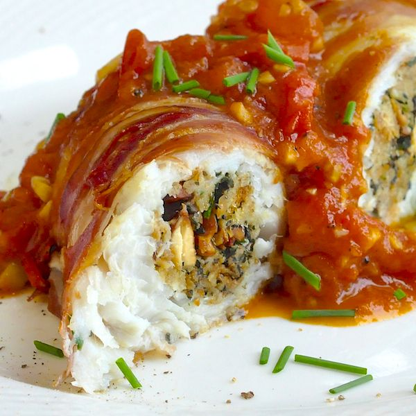 Stuffed cod a la empire to celebrate rock recipes 4th for Stuffed fish fillets