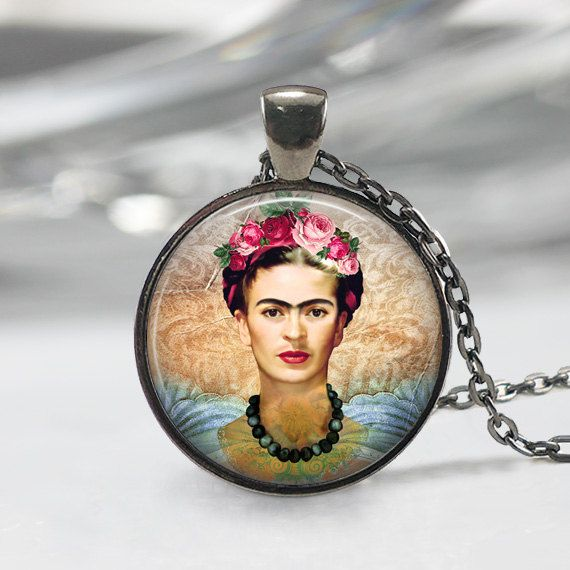 Frida Kahlo Necklace Feminists Artist by MsGolightlyDesigns