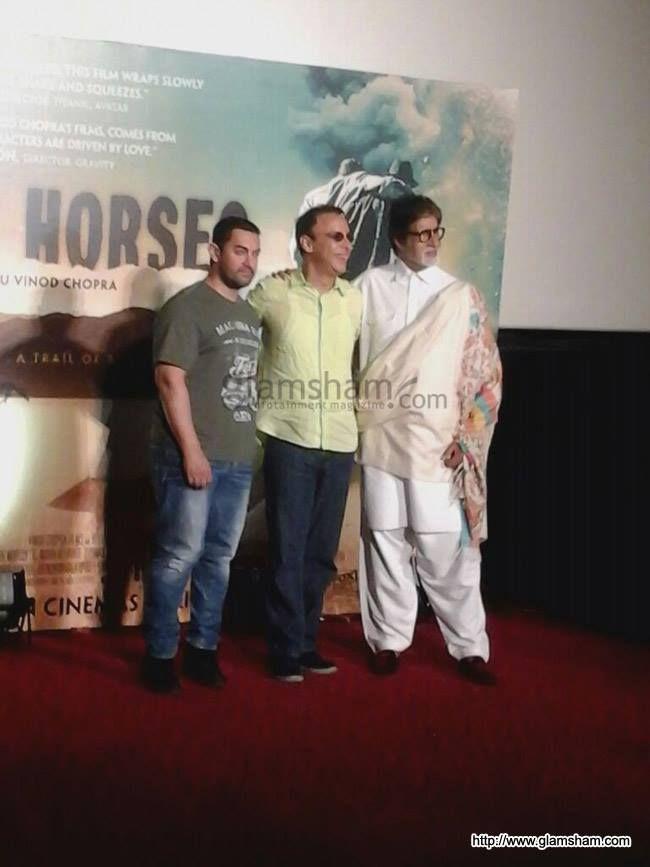 Amitabh Bachchan, Aamir Khan launch Vidhu Vinod Chopra's Broken Horses trailer.