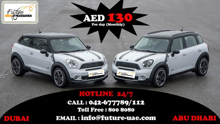 Future Car Rentals Offering Promotion on all cars in this SUMMERS. Now Introducing MINI COOPER now just in AED 130 per day (Monthly) For More Information Call : 042-677789/112 Toll Free : 800 8080 Email : info@future-uae.com #dubai #mydubai #car4rent #rentacardubai #carforrentdubai #dubaicarrentals #carrentalsuae #uaerentacar #hireacar #hireacardubai #like4like #followme #likeforlike #uae #dxb