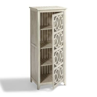 Beautifully organize towels, tableware, all-weather accents, and more in our distinctive Amalfi Outdoor Storage Cabinet. A testament to the time-honored traditions and skills of expert craftsmen, our wood all-weather cabinet is as much a work of art as it is an invaluable piece of outdoor organization. Open door design features a dynamic interlocking circle motif repeated on four stacked panels Air is allowed to freely circulate, while display items are still ...