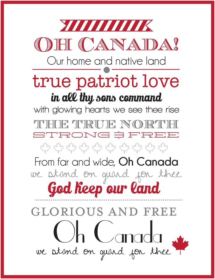 Canada Day Wall Art V2