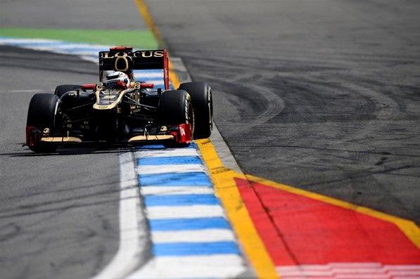 Kimi Raikkonen (FIN) Lotus E20.  Formula One World Championship, Rd10, German Grand Prix, Qualifying, Hockenheim, Germany, Saturday, 21 July 2012
