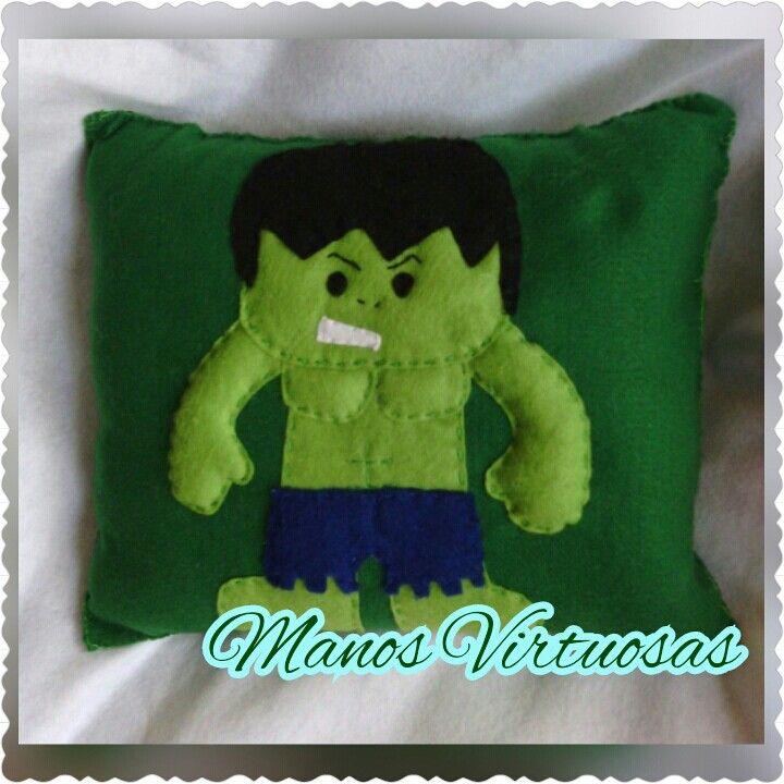 Cojin fieltro felt feltros hulk superheroes