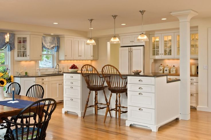 Kitchen another cape cod style for the home pinterest for Cape cod style kitchen cabinets