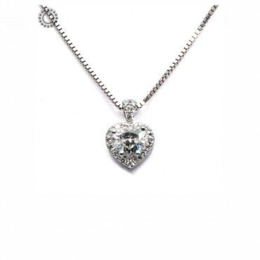 Ένα πανέμορφο κολιέ σε λευκόχρυσο Κ18 με κεντρική καρδιά από διαμάντι σε κοπή heart και περιμετρικά Brilliants με ενσωματωμένη αλυσίδα. Μοναδικό & πολύτιμο. #μονοπετρο #διαμαντι #μπριγιαν #λευκοχρυσο #κολιε