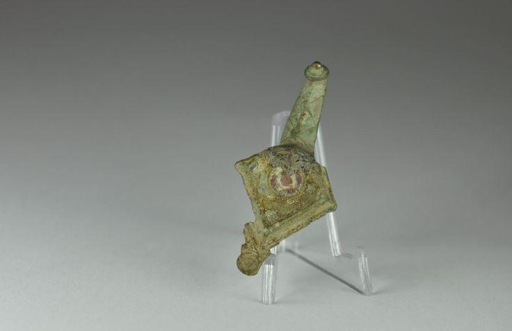 Roman bronze enamelled fibula brooch. Private collection