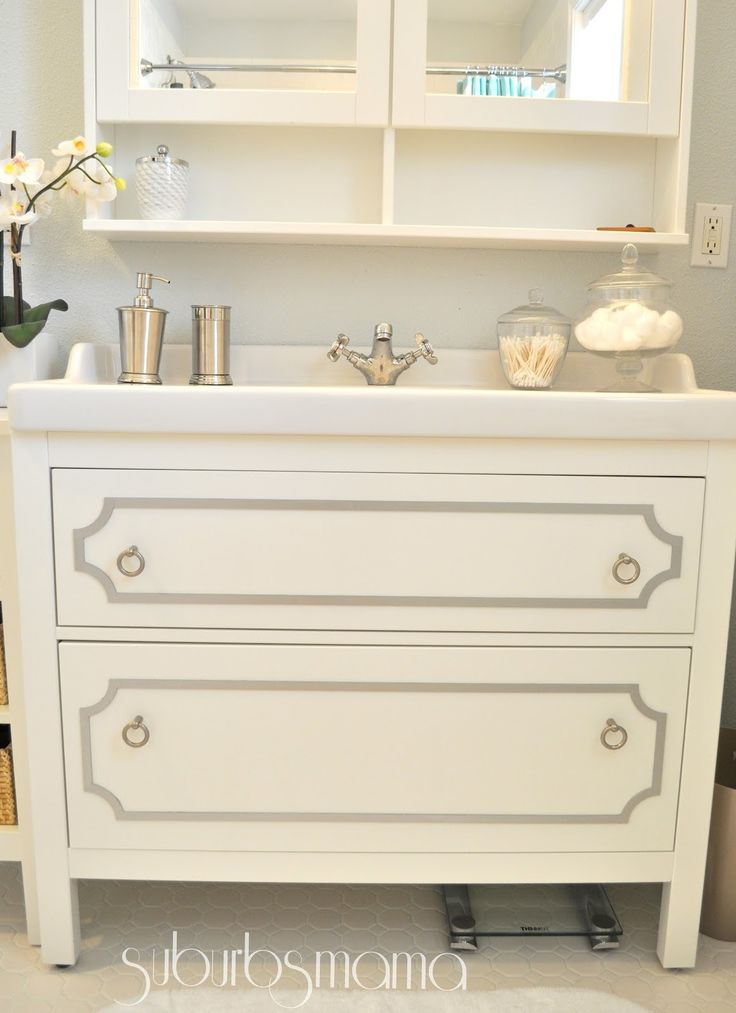 hemnes bathroom vanity plumbing ikea hack review