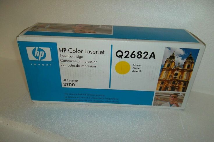Details about HP Q2682A Yellow GENUINE Toner Cartridge NEW 3700