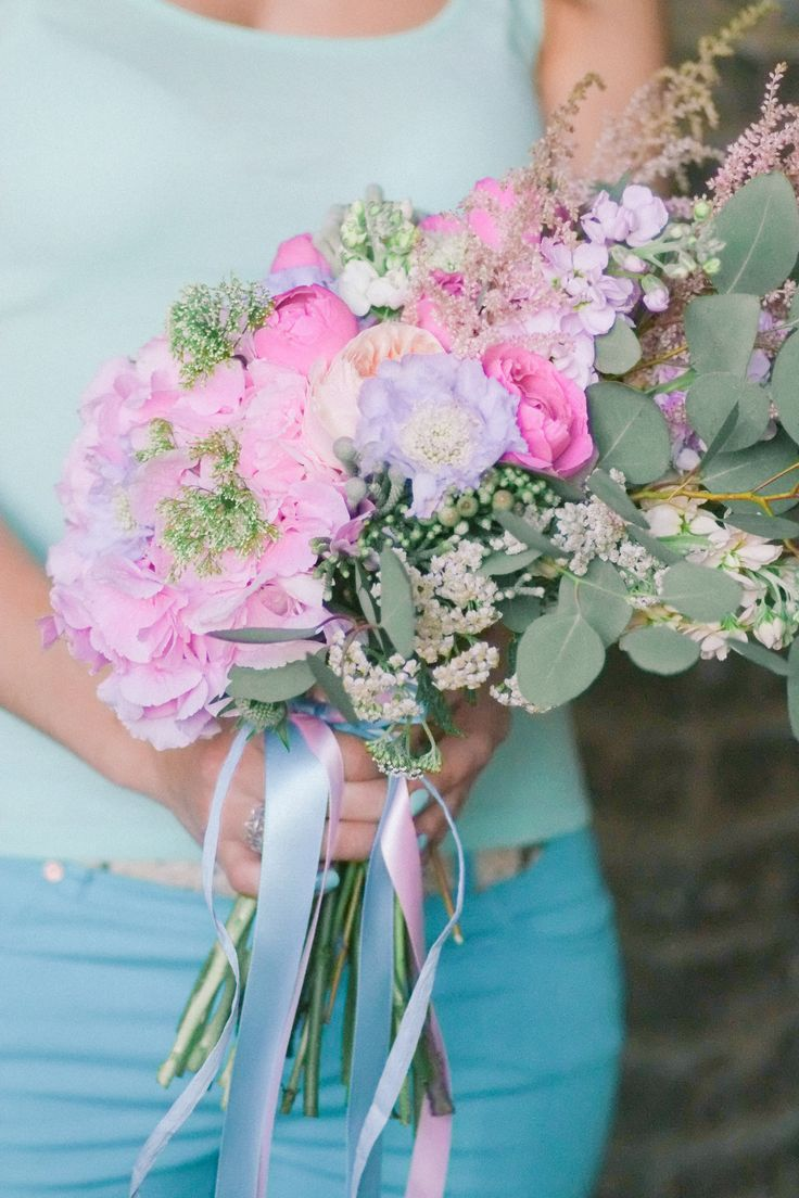 Birthday bouquet / peony /anemone / hortensia / eucaliptus / David Ostin roses