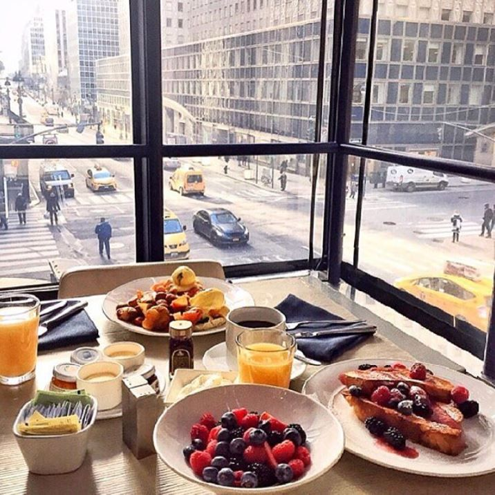 """""""Fueling up for the day with a colorful and delicious breakfast at Grand Hyatt New York. NYFW I'm ready for you"""" -- Melissa Koh #LivingGrand"""