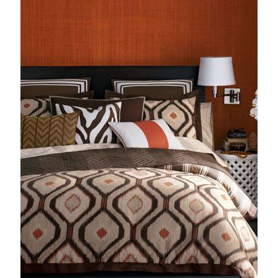 Orange Cream Amp Brown Ikat Bedding Perfect For My African