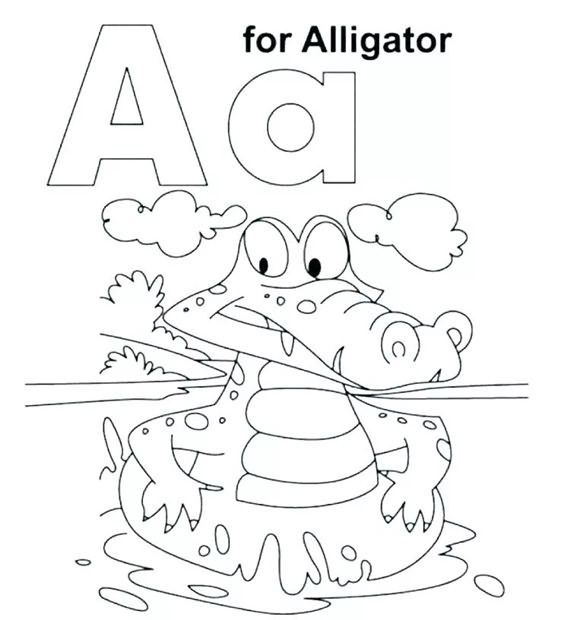 Best Coloring Pages Of Alphabet Letter A Letter A Coloring Pages Preschool Coloring Pages Abc Coloring Pages