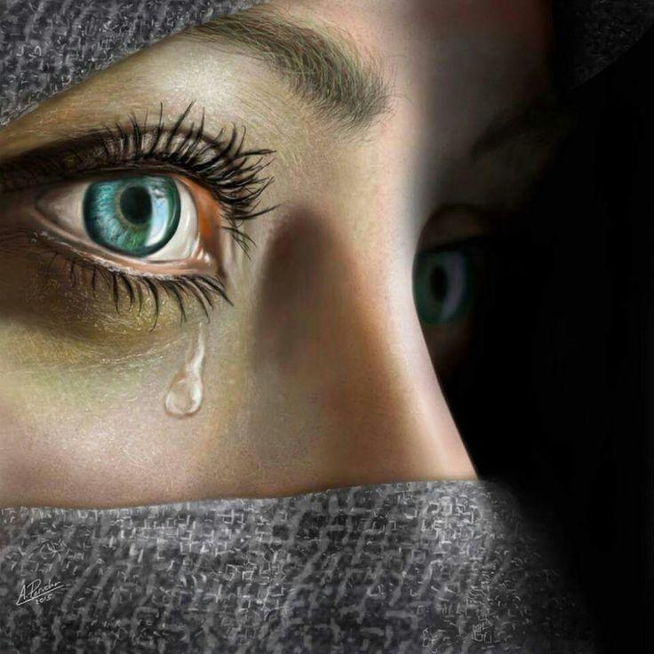Картинки грустных зеленый глаз
